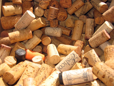 wine corks = procrastination