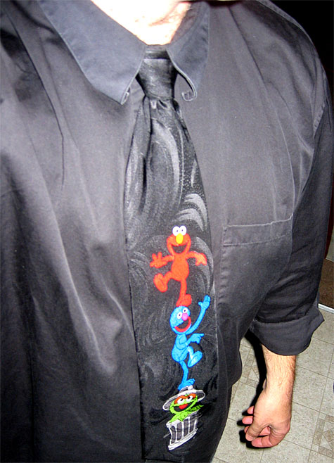 Muppets on a tie